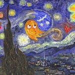 Pac-Man Invades Van Gogh&#039;s Starry Night Painting