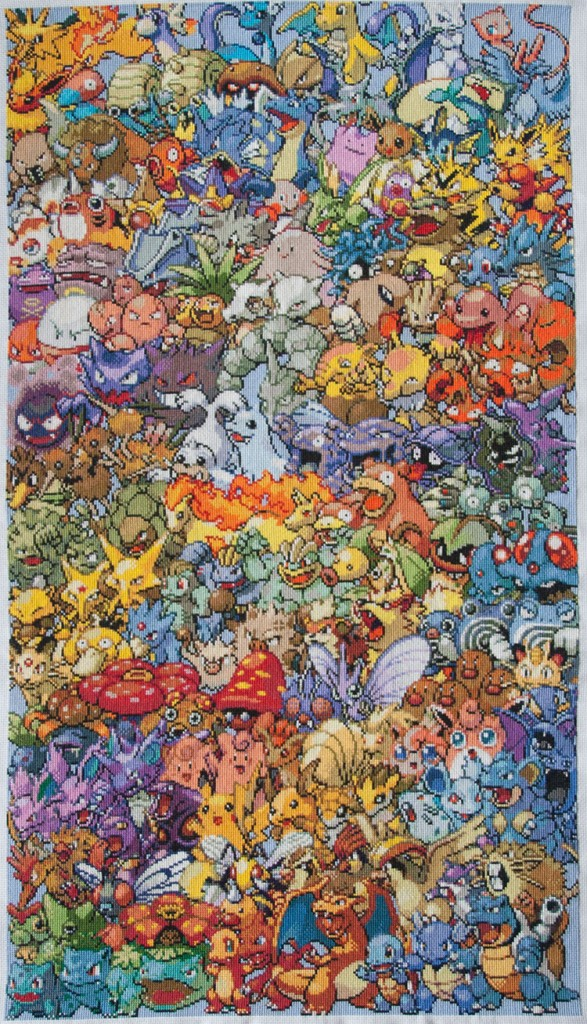 First Generation Pokemon Cross-Stitch