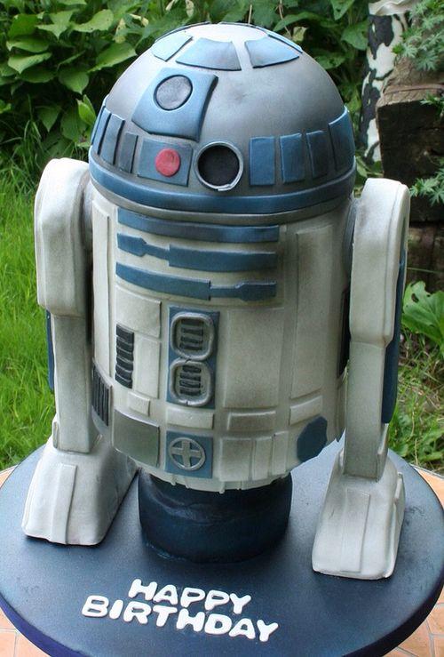Star Wars R2-D2 Birthday Cake