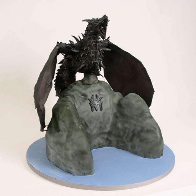 Skyrim Dragon Cake