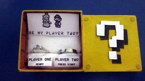 Super Mario Bros Question Block Ring Box
