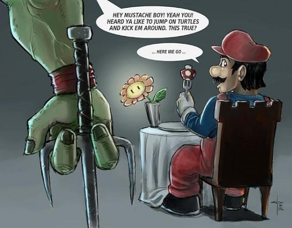 Super Mario Makes The Teenage Mutant Ninja Turtles Angry