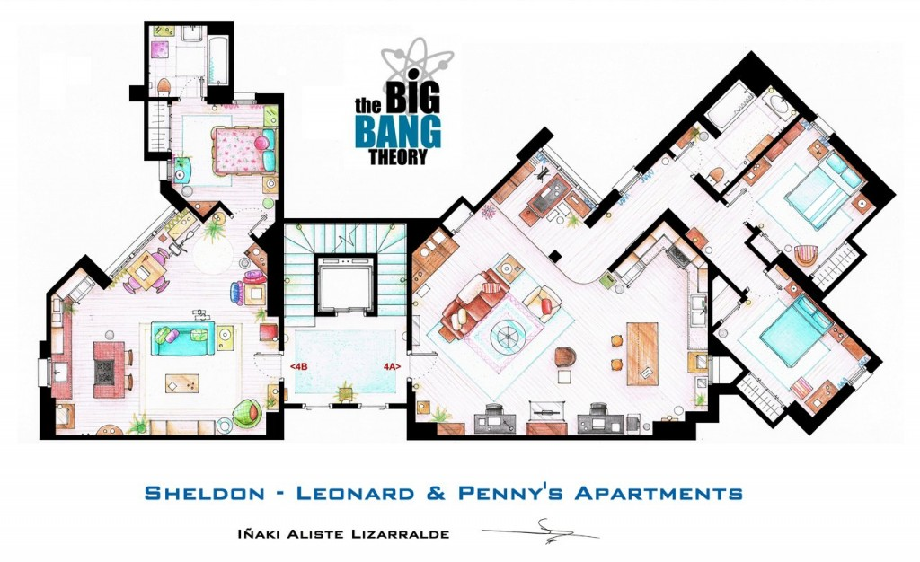 The Big Bang Theory Apartment Floor Plan