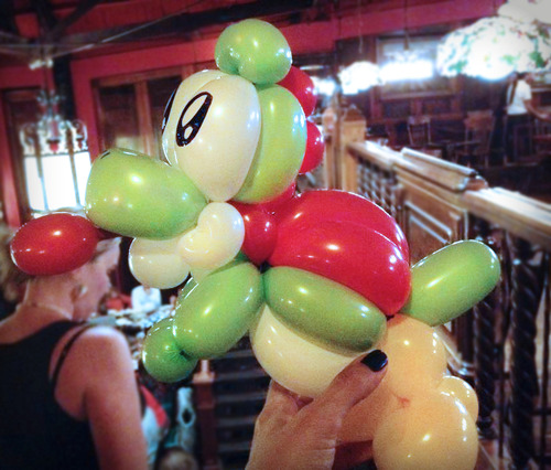 Super Mario World Yoshi Balloon Animal