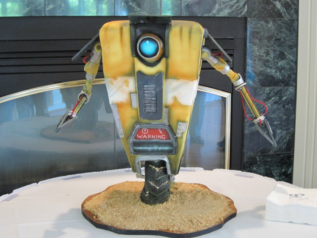 Borderlands Claptrap Cake