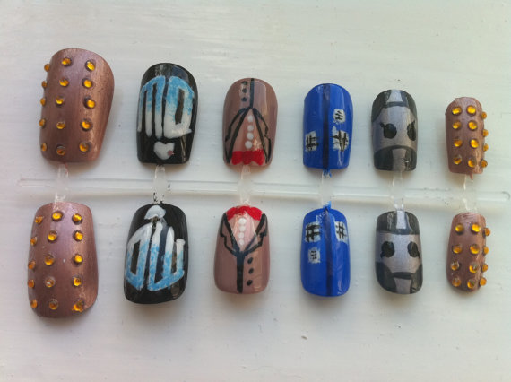 Doctor Who Fake Nails