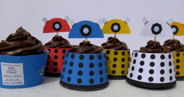TARDIS and Dalek Cupcakes
