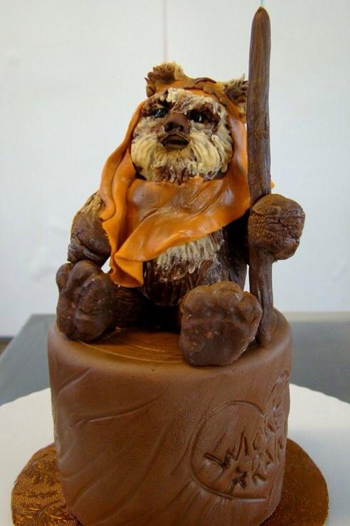 Ewok Wicket Cake