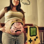 Krang Painted on Pregnant Woman's Belly [pic]