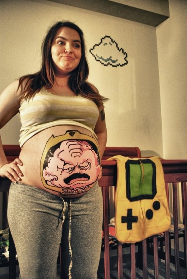 Pregnant Belly Krang from the TMNT