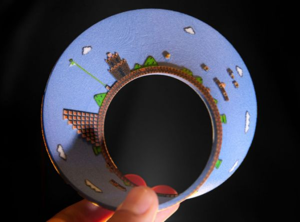 Super Mario Bros 3D Printed Mobius Strip