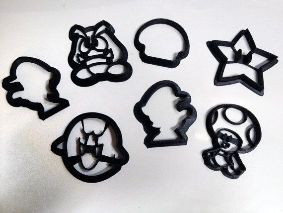 Super Mario Bros Cookie Cutters Set