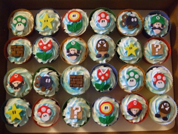 Cute Super Mario Bros Cupcakes