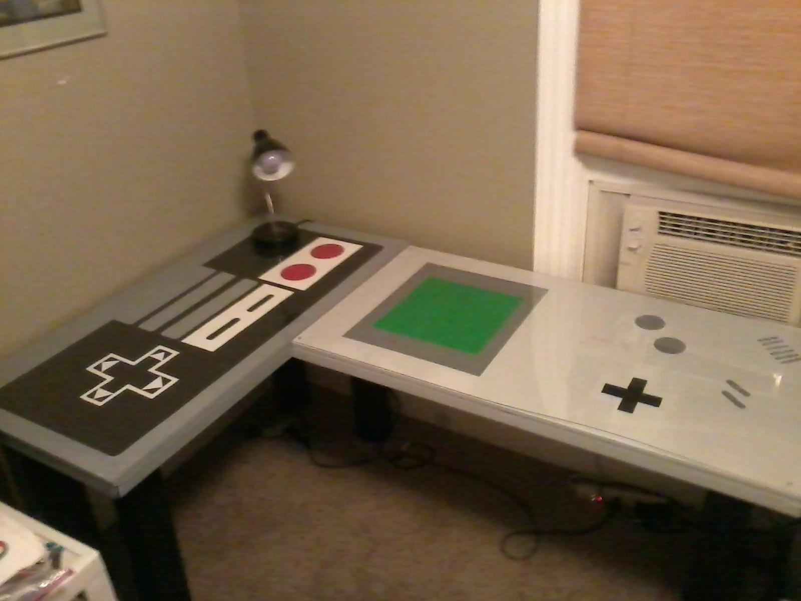nerdy office decor. The Nintendo Desk Nerdy Office Decor