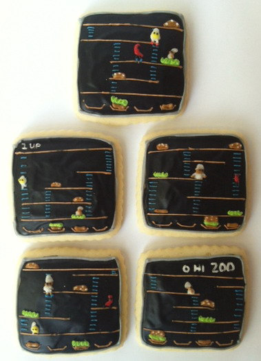 NES Burgertime Sugar Cookies