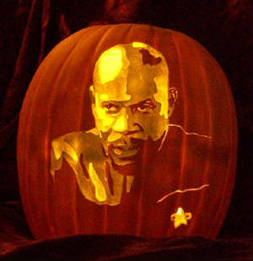 Captain Sisko DS9 Pumpkin Carving