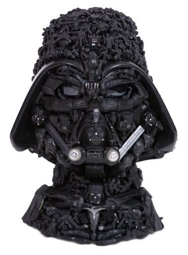 Star Wars Darth Vader Made From Toys