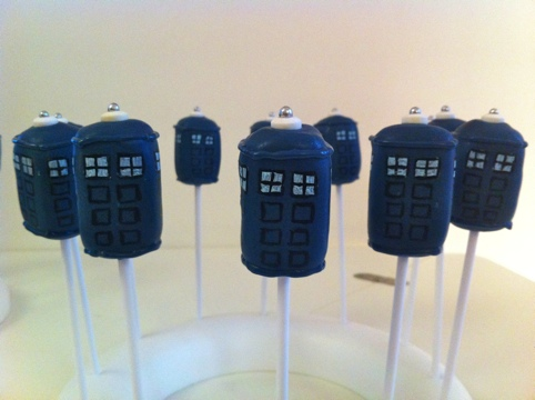TARDIS Cake Pops