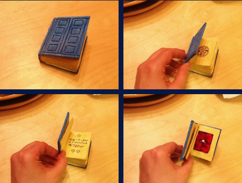 Doctor Who Spoilers Book Engagement Ring Box
