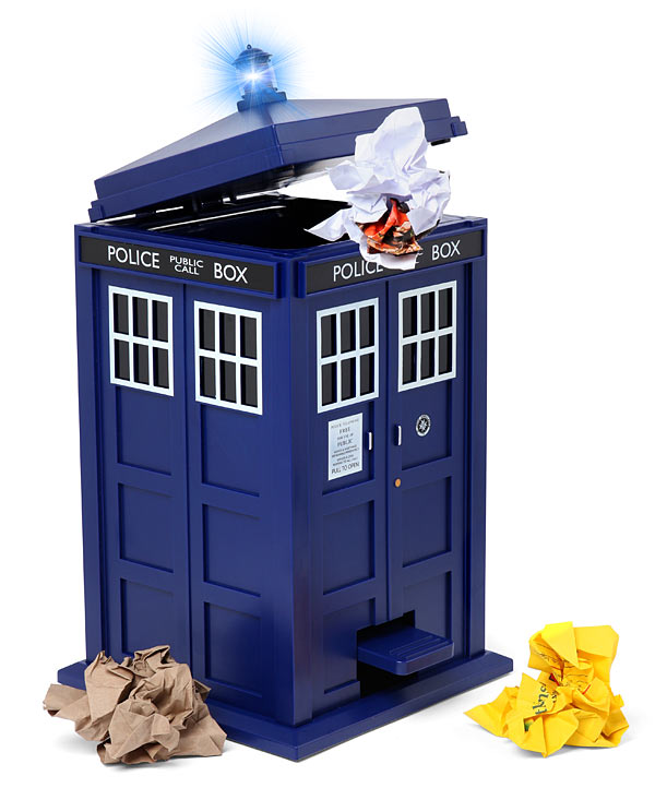 Doctor Who TARDIS Garbage Can