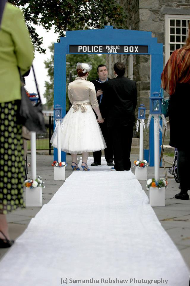 TARDIS Wedding Arch