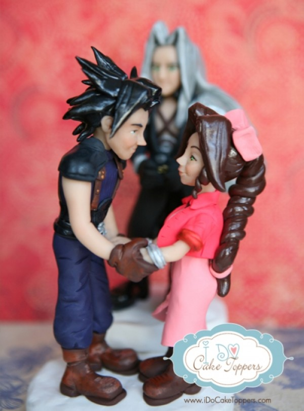 Final Fantasy Wedding Cake Topper