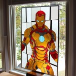 Beautiful Iron Man Stained Glass [pic]