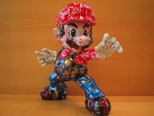 Super Mario Made From Aluminum Cans