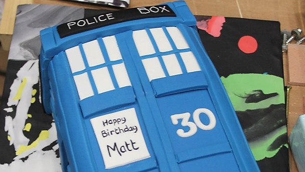 Matt Smith TARDIS Birthday Cake