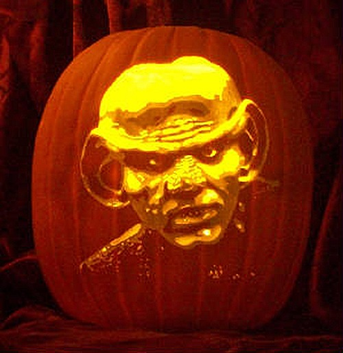 Quark DS9 Pumpkin Carving