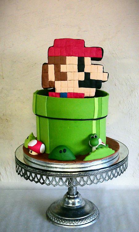 Super Mario Warp Pipe Cake