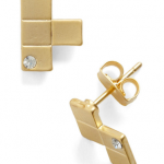 Metal Tetris Earrings