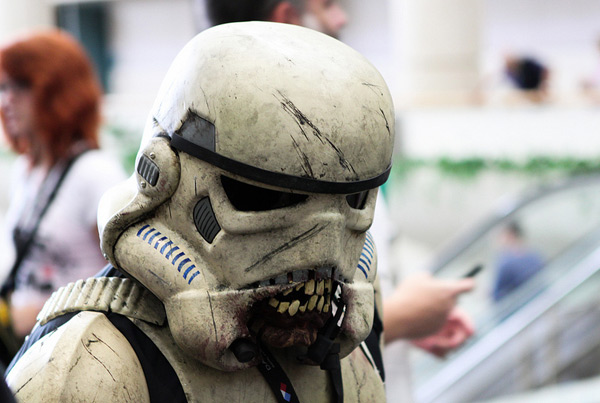 Star Wars Zombie Stormtrooper Face