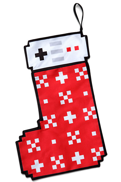 Retro gaming 8-bit Christmas Stocking