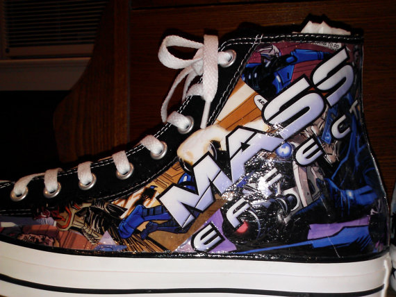 Custom Mass Effect Converse Sneakers
