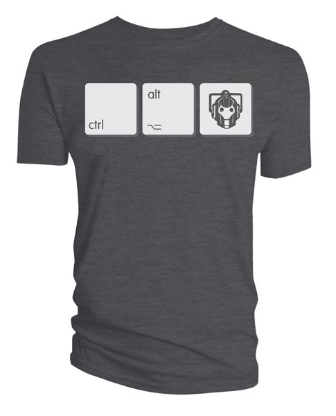 Doctor Who Cyberman Ctrl Alt Del Shirt