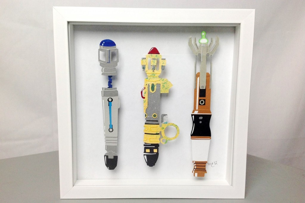 Papercraft Sonic Screwdrivers