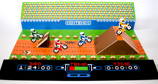 NES Excitebike Papercraft