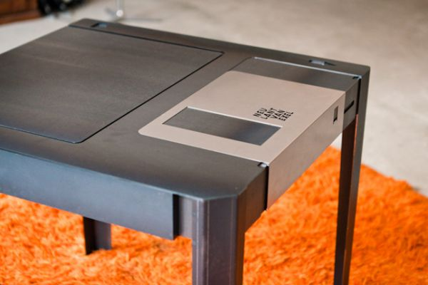 This Floppy Disk Coffee Table is Every Computer Geeks Dream pic