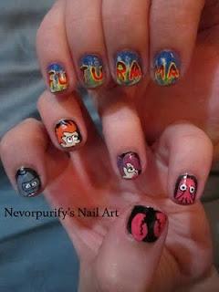 Futurama Nail Art