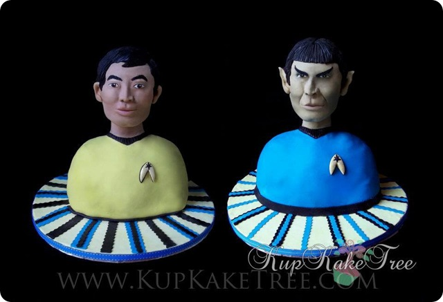 Star Trek Spock and Sulu Cakes