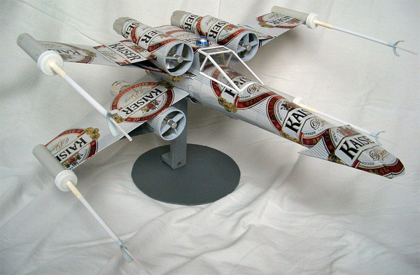 Star Wars Aluminum Can Art X-Wing