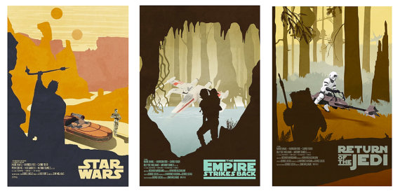 Star Wars Original Trilogy Poster Set