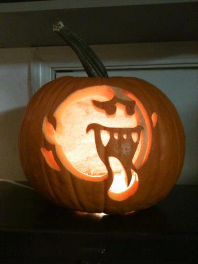 Super Mario Bros Boo Pumpkin Carving Pic Global Geek News