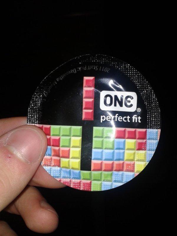 One Perfect Fit Tetris Condom