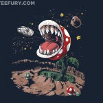 Super Mario Bros Star Wars Mash-up Shirt