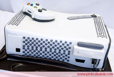 Microsoft Xbox 360 Grooms Cake Back