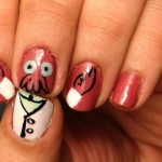 Futurama Zoidberg Fingernail Art