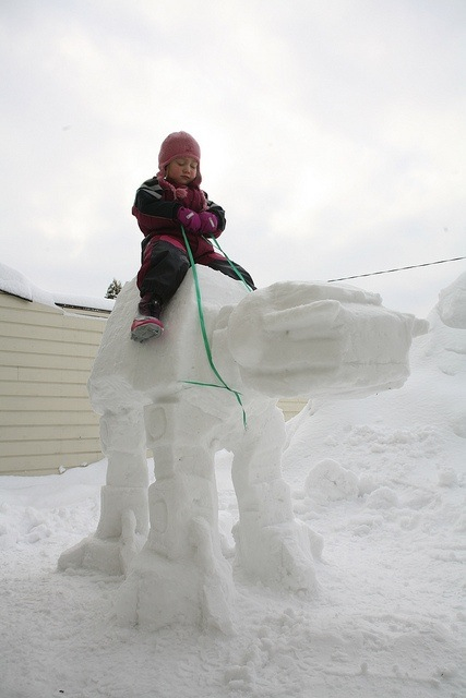 AT-AT Snow Sculpture