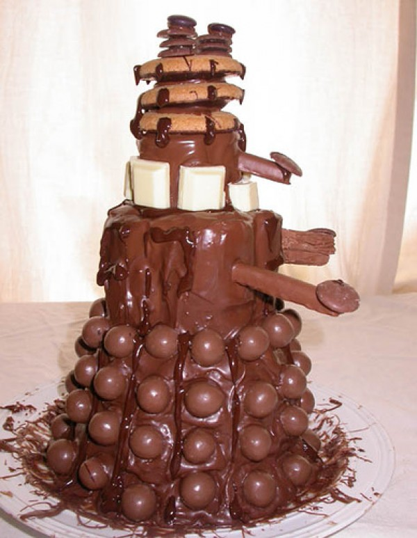 Doctor Who Dalek Chocolate Cake